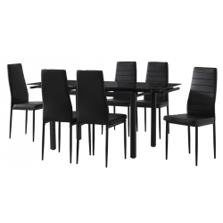 Pack Mesa Extensível SELECT e 6 Cadeiras ZARA