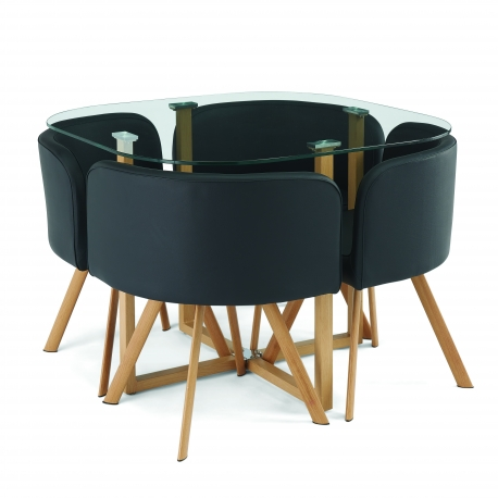 Conjunto Mesa e 4 Cadeiras SPACY