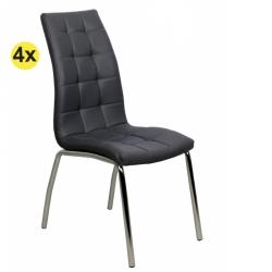 Pack de 4 Cadeiras de Sala CALLY II Cinza