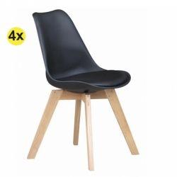 Pack de 4 Cadeiras de Jantar SOFIA II Preto