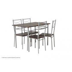 Conjunto Mesa e 4 Cadeiras NISSE II - Wengue
