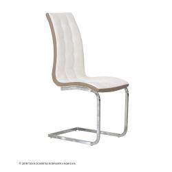 Cadeira de Sala LUCAS II Branco e Bege