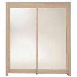 Roupeiro 2 portas e 2 Espelhos FAMOSO Carvalho