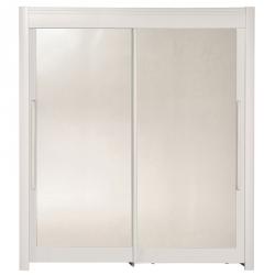 Roupeiro 2 portas e 2 Espelhos FAMOSO Branco