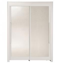 Roupeiro 2 portas e 2 Espelhos FAMOSO 158cm Branco