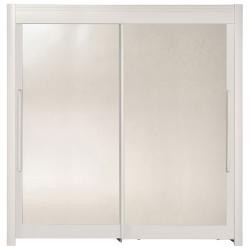 Roupeiro 2 portas e 2 Espelhos FAMOSO 200cm Branco