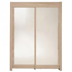 Roupeiro 2 portas e 2 Espelhos FAMOSO 158cm Carvalho