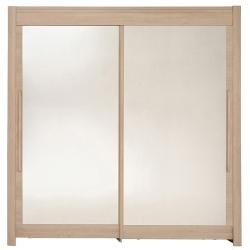 Roupeiro 2 portas e 2 Espelhos FAMOSO 200cm Carvalho