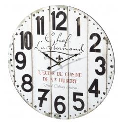 Relógio de Parede MDF Branco