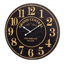Relógio de Parede MDF Preto e Bege