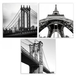 3 Quadros Fotoimpressão CANVAS 60x60 cm