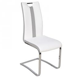 Cadeira de Sala NATALIA Branco e Cinza