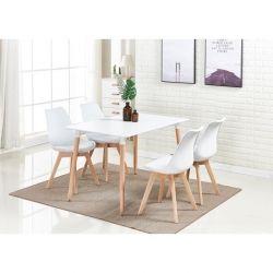 Pack Mesa de Jantar DENVER + 4 Cadeiras SOFIA Branco
