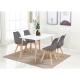 Pack Mesa de Jantar DENVER + 4 Cadeiras SOFIA Cinza