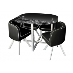 Conjunto Mesa e 4 Cadeiras SPACY New York