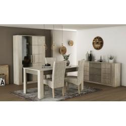 Pack Mesa de Jantar CANNES + 4 Cadeiras de Sala DALAS Bege