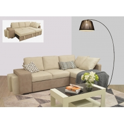 Chaise Longue Direita STACY Bege/Taupe