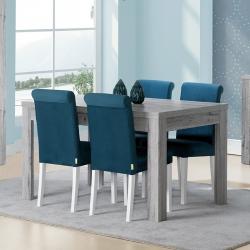 Mesa de Jantar Extensível FLORENÇA Cinza Rústico 140-230 cm