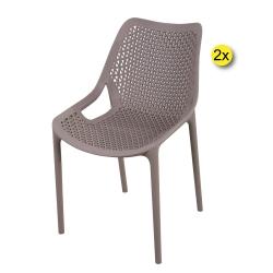 Pack 2 Cadeiras Empilhável OXY