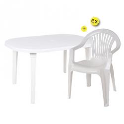 Mesa de Jardim BRAGA Branco
