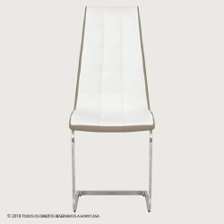 Cadeira de Sala LUCAS Branco e Bege