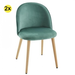 Pack de 2 Cadeiras de Sala TOKYO Verde