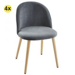 Pack de 2 Cadeiras de Sala TOKYO Cinza