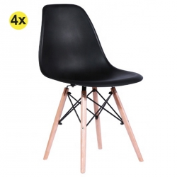 Pack de 4 Cadeiras de Sala DENVER Preto