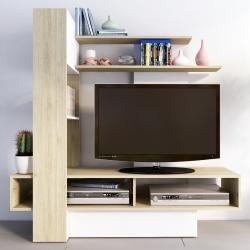 Estante TV PALMA Natura e Branco
