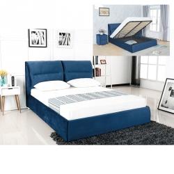 Cama de Casal Elevatória PABLO 160x200cm Azul