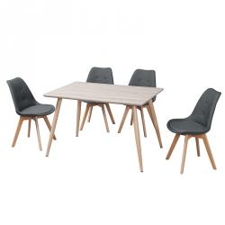 Pack de Mesa de Jantar VICHY + 4 Cadeiras de Sala SOPHIAN