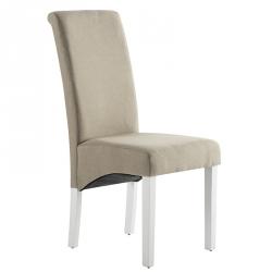 Cadeira de Sala ISABEL Bege com pés Brancos