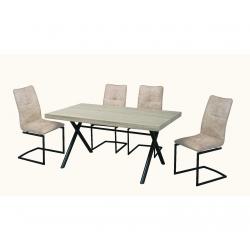 Pack de Mesa de Jantar GIORGIO + 4 Cadeiras de Sala ARMANI