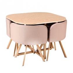 Conjunto Mesa e 4 Cadeiras SPACY Carvalho