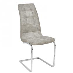Cadeira de Sala LUCAS II Microfibra Cinza