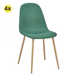 Pack de 4 Cadeiras de Jantar LEE II Verde