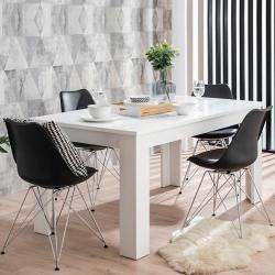 Mesa de Jantar Extensível OSCAR Branco Rústico