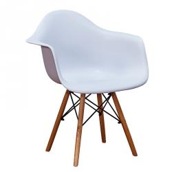 Cadeira de Sala com Braços MODA Branco