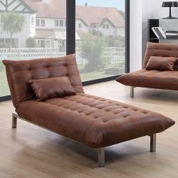Chaise longue com cama PRETY Castanho Vintage