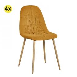 Pack de 4 Cadeiras de Sala BRUCE Amarelo