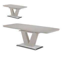 Mesa de Jantar Extensível ELEGANCE Cinza Brilho 160-220 cm