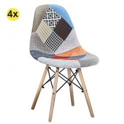 Pack 4 Cadeiras de Sala FESTA Patchwork Multicor