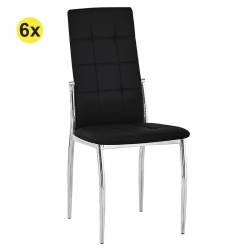 Pack 4 Cadeiras de Sala LOGAN Preto PU