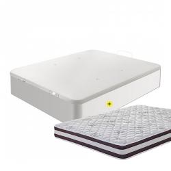 Pack Sommier Abatível CASINO BOX Branco + Colchão START ROLL
