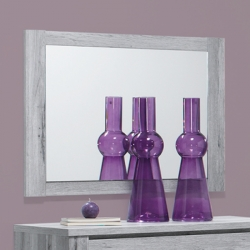 Espelho de Quarto FLORENÇA Cinza Rústico