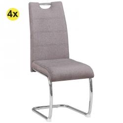 Pack de 4 Cadeiras de Sala BILBAO Cinza