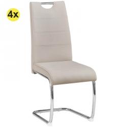 Pack de 4 Cadeiras de Sala BILBAO Cinza Claro