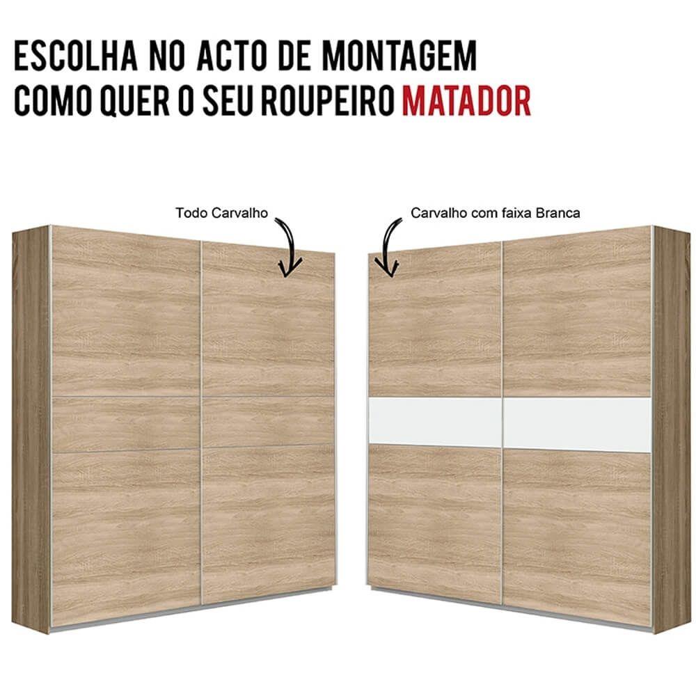 Roupeiro 2 portas deslizantes MATADOR 170cm
