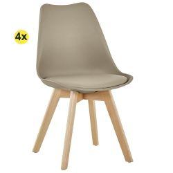 Pack de 4 Cadeiras de Jantar SOFIA II Taupe
