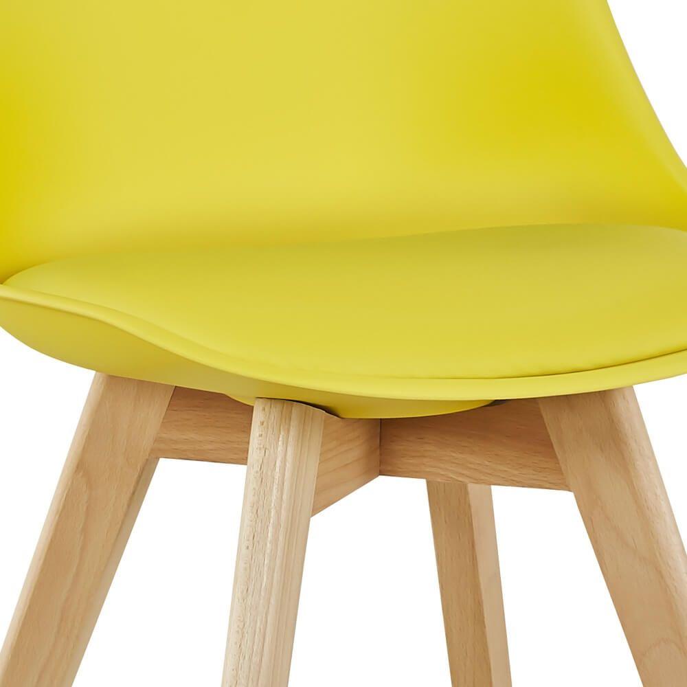 Pack de 4 Cadeiras de Jantar SOFIA II Amarelo